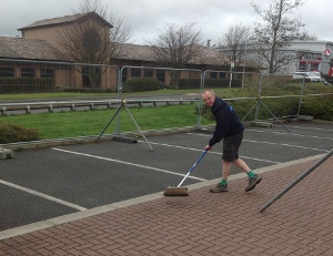 Stu Morris sweeping